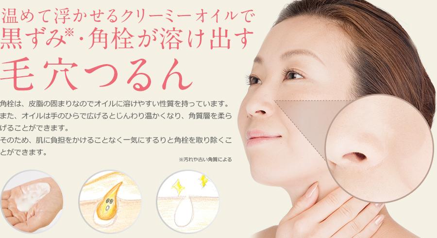 洗うセルフューチャー洗顔バームの毛穴画像