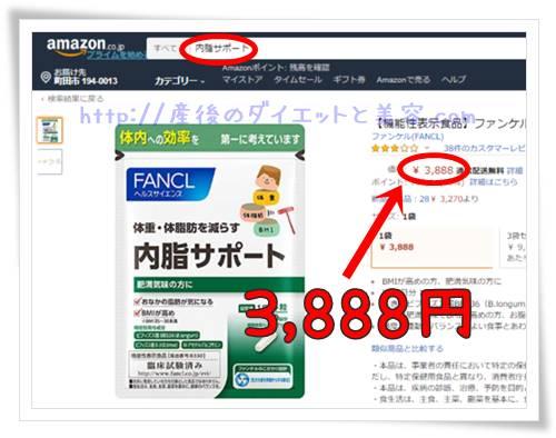 内脂サポートのAmazonでの検索結果