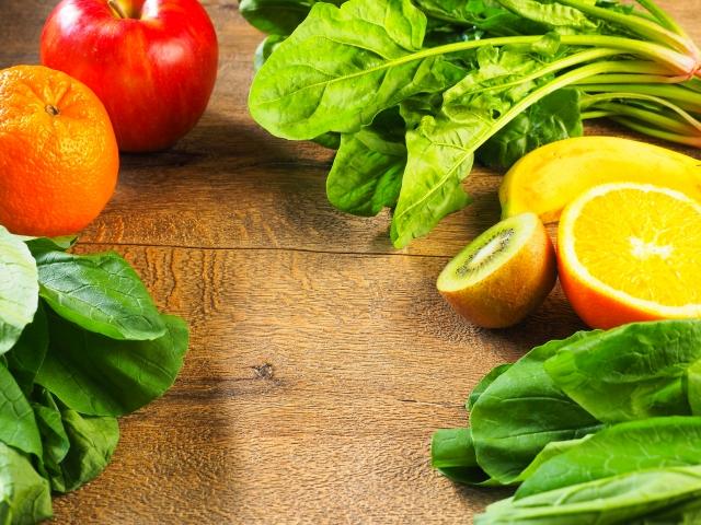 セブンデイズカラースムージーの成分の野菜の写真