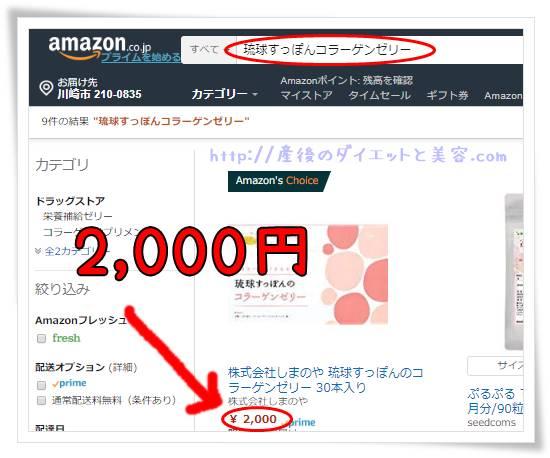 琉球すっぽんのコラーゲンゼリーのAmazonでの検索結果